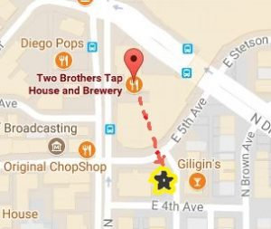 Two Brothers Parking Map